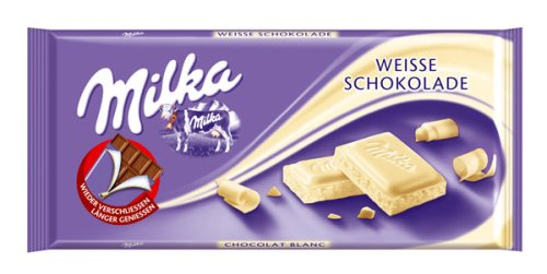 Details About 25x Original Fresh Milka White Chocolate Bars 25x100g 308 Oz