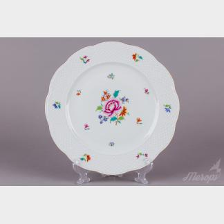 Herend Nanking Bouquet Multicolor Round Serving Platter #527/NB