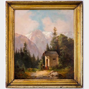 AUSTRIAN PAINTER, 19TH CENTURY | Chapel in the Hills