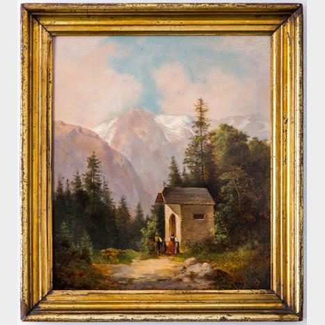 AUSTRIAN PAINTER, 19TH CENTURY   Chapel in the Hills