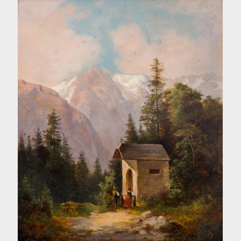 AUSTRIAN PAINTER, 19TH CENTURY | Chapel in the Hills