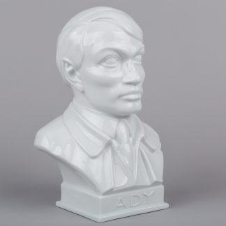 Herend Endre Ady White Porcelain Bust