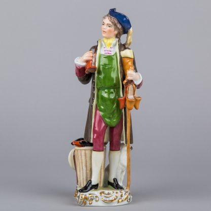 Herend Shoe Vendor Man Figurine, Rare Masterpiece #15946