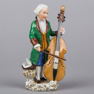 Herend Man Playing the Cello Figurine, Masterpiece #15955