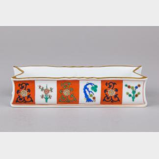 Herend Red Dynasty Godollo Pattern Pencil Case #7035/G