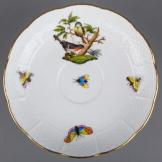 Herend Rothschild Bird Saucer #706/RO, Motif #2