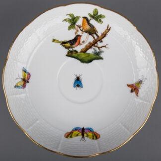 Herend Rothschild Bird Saucer #706/RO, Motif #8