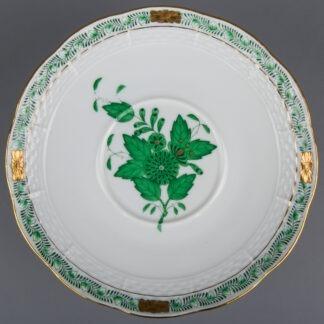 Herend Chinese Bouquet Green Saucer #744/AV