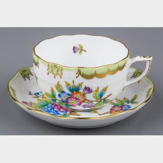 NEW Herend Queen Victoria Tea Cup with Saucer #724/VBO