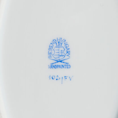 Herend Indian Basket Green Oval Service Platter #102/FV