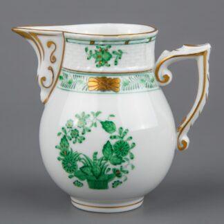 Herend Indian Basket Green Milk Jug #635/FV