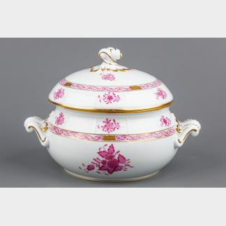 Herend Chinese Bouquet Raspberry Soup Tureen #28/AP