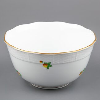 Herend Strawberry Pattern Tall Vegetable Serving Bowl #362