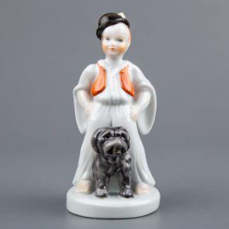 Herend Shepherd Boy with Puli Dog Figurine #5483