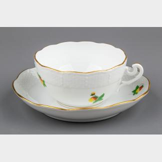 Herend Strawberry Pattern XLarge Tea Cup with Saucer #702