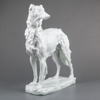 Herend Large Russian Greyhound White Figurine #5358